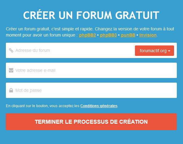 création d'un forum